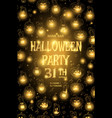 halloween party poster with pumpkin eps 10 vector image vector image