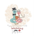 hand drawing cartoon abstract love and wedding vector image vector image