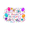 happy birthday greeting card banner poster design vector image