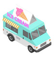 ice cream truck icon isometric style vector image vector image