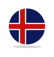icelandic flag vector image vector image