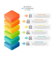 isometric infographic design with 6 options vector image