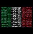 italy flag pattern of trust texts vector image vector image