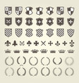 kit of coat of arms for knight shields and royal e vector image vector image