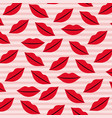 lips pattern set on pop art linear color vector image vector image