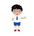 little boy with eyeglasses in vector image vector image