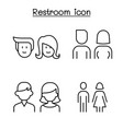 modern toilet restroom bathroom symbol set in vector image vector image