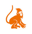 monkey mascot logo design template isolated vector image
