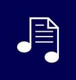 music notes logo vector image