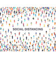 people social distancing person distance banner vector image