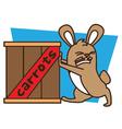 Push Rabbit vector image vector image