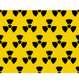 Radiation sign pattern vector image vector image