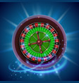 realistic casino gambling roulette wheel cover vector image