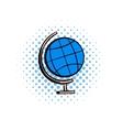 School geographical globe comics icon vector image