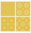 Seamless mosaic oriental patterns vector image vector image