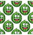 Seamless pattern of a laughing watermelon vector image