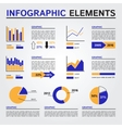 Set of Infographics Elements Blue and Orange vector image