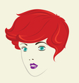 Short Curly Hair Woman Hair Style vector image