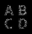 silver broken letters vector image vector image