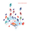 social network and technology concept modern flat vector image