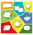 speech popart elements comic cartoon shapes for vector image
