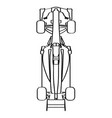 top view of a racing car vector image