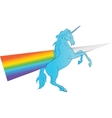 Unicorn silhouette icon logo with rainbow vector image vector image
