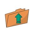 Upload arrow of digital concept vector image vector image