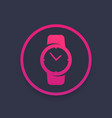 watch icon in circle vector image vector image