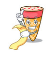 with menu ice cream tone mascot cartoon vector image