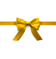 yellow holiday bow gift and decorative element vector image vector image