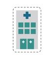 building hospital medicine healthcare cut line vector image