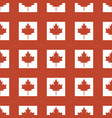 canada country flag symbol maple leaf pattern vector image