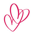 heart two love sign icon on white background vector image