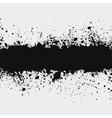 Grunge ink splattered background element with a sp vector image