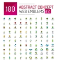 abstract concept web internet logo mega set vector image