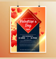 awesome flyer template for valentines day vector image vector image