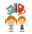 Back to school design vector image vector image