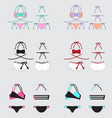 bikinis set vector image