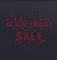 black friday sale vintage banner vector image vector image