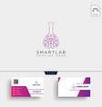brain laboratory science logo template and vector image vector image