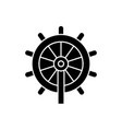 business steering wheel black concept icon vector image