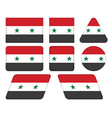 buttons with flag of Syria vector image