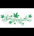 Cannabis Marijuana green leaf texture background vector image vector image