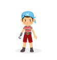 cartoon of young pirate vector image vector image