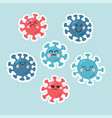 character shaped cell a microorganism vector image