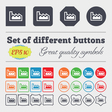 Chart icon sign Big set of colorful diverse vector image vector image