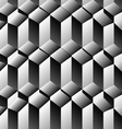 Cubes rows optical background vector image vector image