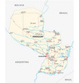 Detailed republic of paraguay road map