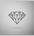 diamond sign isolated on grey background jewelry vector image